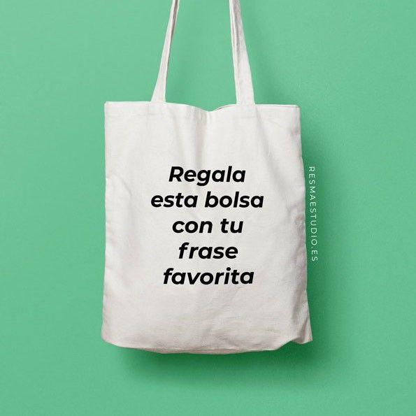 bolsa 100% algodón con frase personalizada