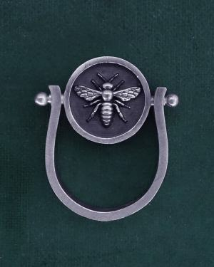 Round rotating bee ring inspired by d'a jewel d'Ancient Egypt in sterling silver made in France | Res Mirum