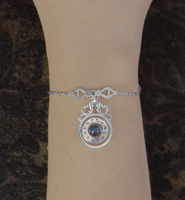 Bracelet inspired by d'scientific instruments d'ancient astronomy with silver labradorite handmade in France   Res Mirum