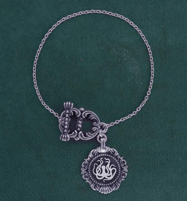 Bracelet octopus ou pieuvre style toogle inspiré des muséums d'histoire naturelle en argent 925 fabriqué artisanalement | Res Mirum