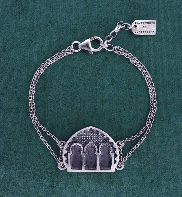 Bracelet porte et façade d'architecture maghrébine fabriqué artisanalement en France | Res Mirum