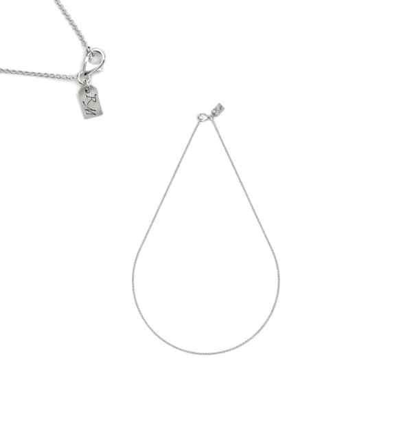 French handcrafted silver short chain 45 cm | Res Mirum
