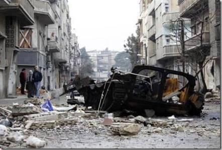 Bombardeo-Guerra Siria