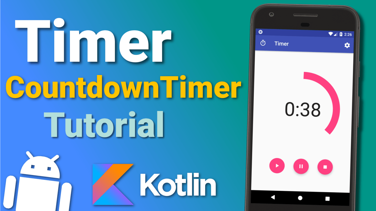 Make a Timer App: Countdown Timer (Ep 2) - Android Kotlin Tutorial (Code)
