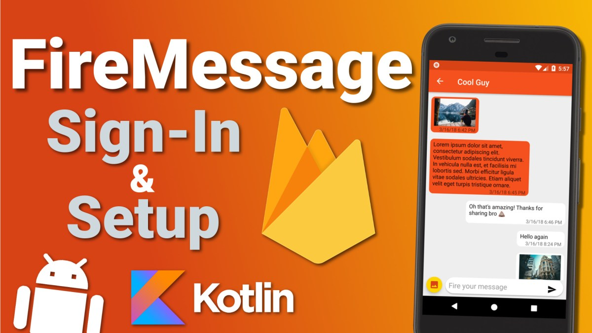 Firebase Firestore Chat App: Sign-In & Setup (Ep 1) - Kotlin Android Tutorial