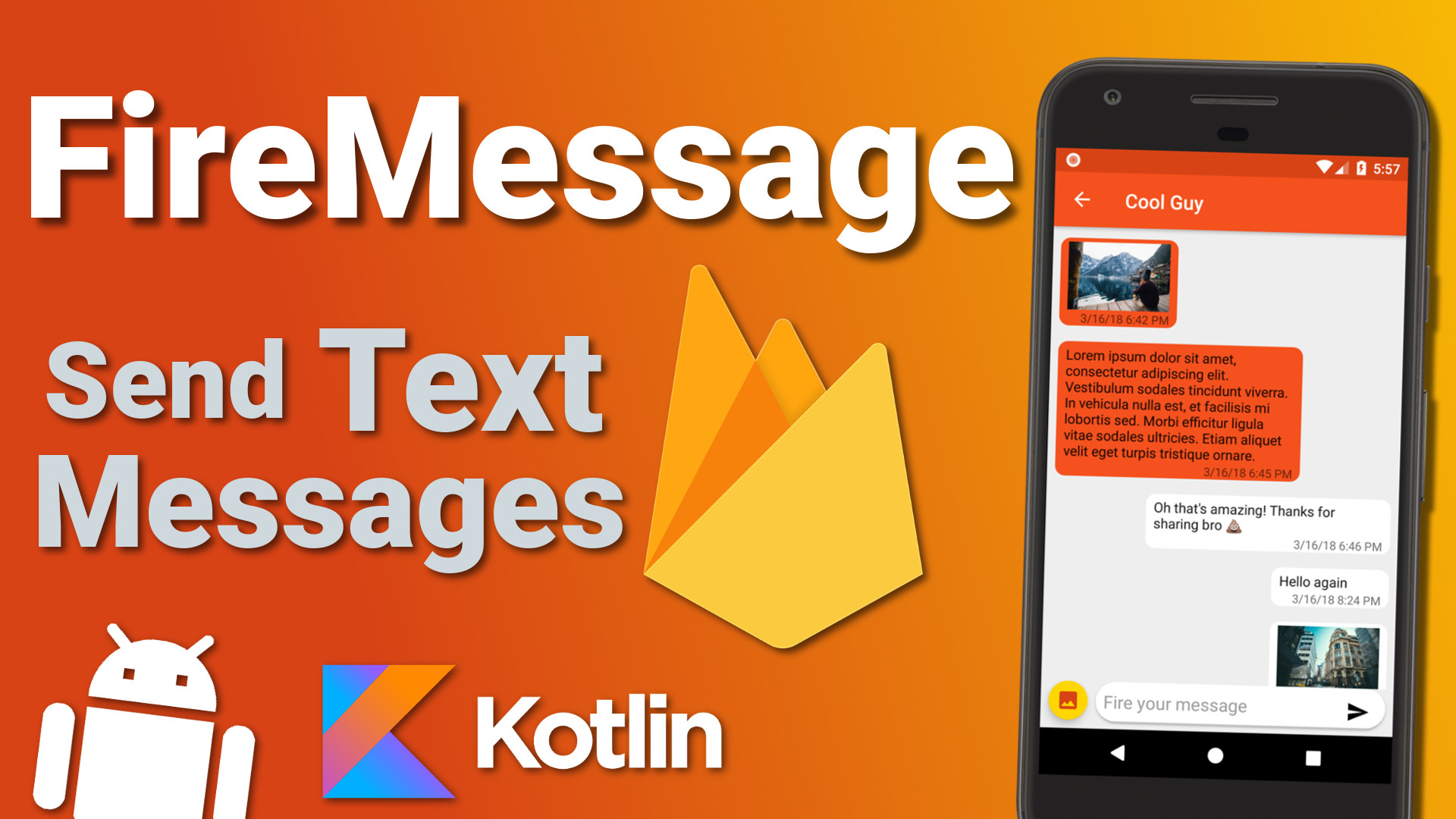 Firebase Firestore Chat App: Send Text Messages (Ep 5) – Kotlin Android Tutorial