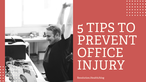 5 tips to prevent office injury