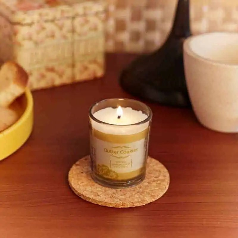 Butter Cookie Natural Wax Voltive Candle