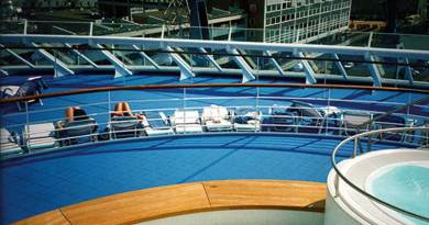 Bergo Excellence Flooring tiles, now distributed and installed by Adventure Golf Services to the Marine Industry, were developed specifically to withstand extreme conditions like Heat, Salt, Wind, Cold, Sun and Water…all at the same time!