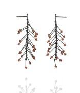 Branch Earrings with Garnets