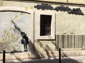 Public street art in Gracia.