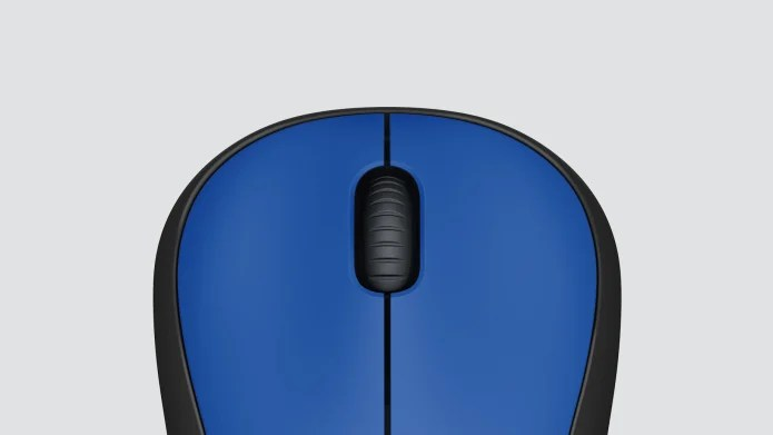 blue wireless mouse