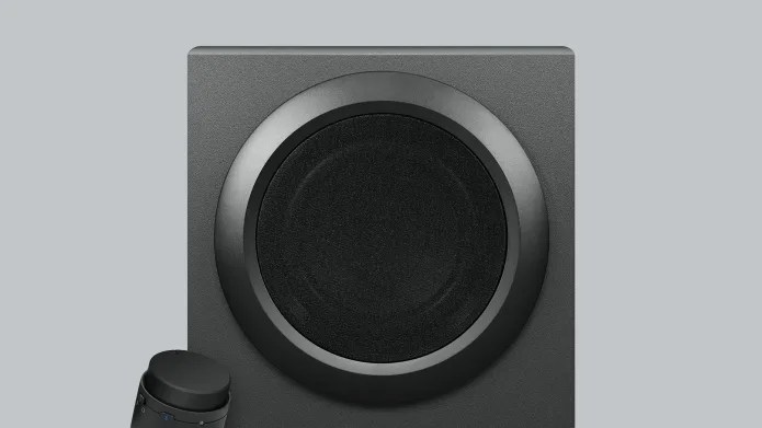 subwoofer with control knob