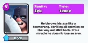 Image result for executioner in clash royale axe moving