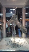 The most expensive hanger in the industry. This hanger is covered in $450,000.00 of Swarovski crystals.