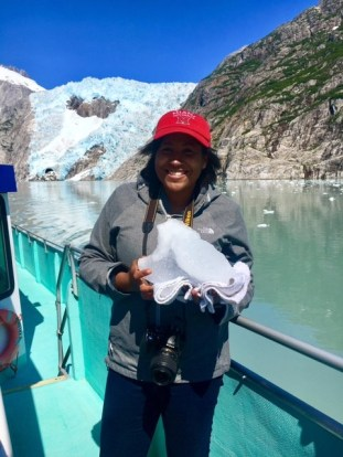 Kristina Phillips - visiting family in Alaska, including Kenai Fjords National Park. Here is Northwestern Glacier (an extension of the Holgate Glacier field)