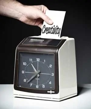 Designing from home, Punch Clock Creativity
