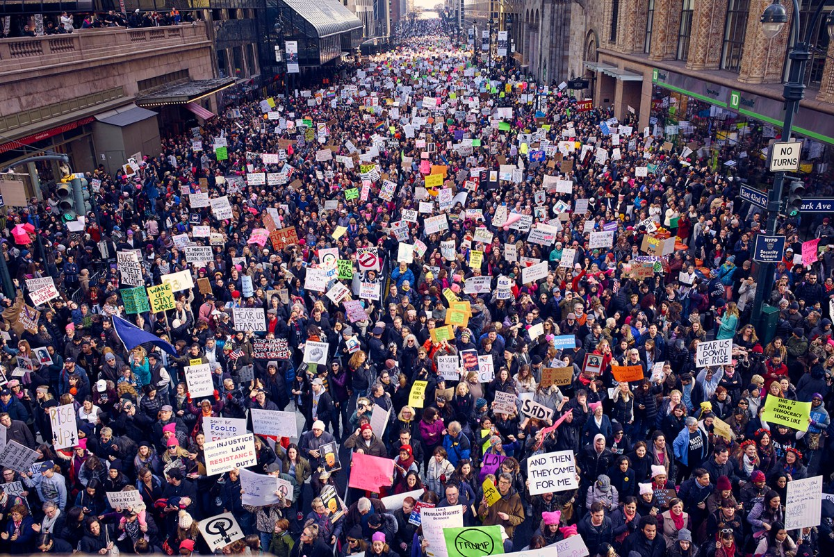 29 Remarkable Photos of Women's March on NYC: 'Make Racists Afraid Again'