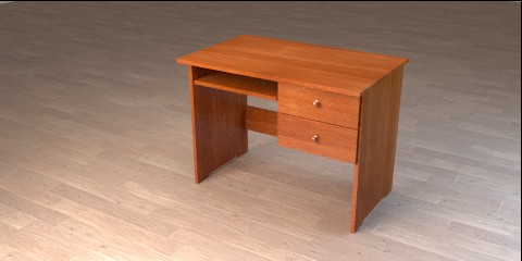 Wooden Desk For Kids Resources Free 3d Models For Blender Sweethome3d And Others