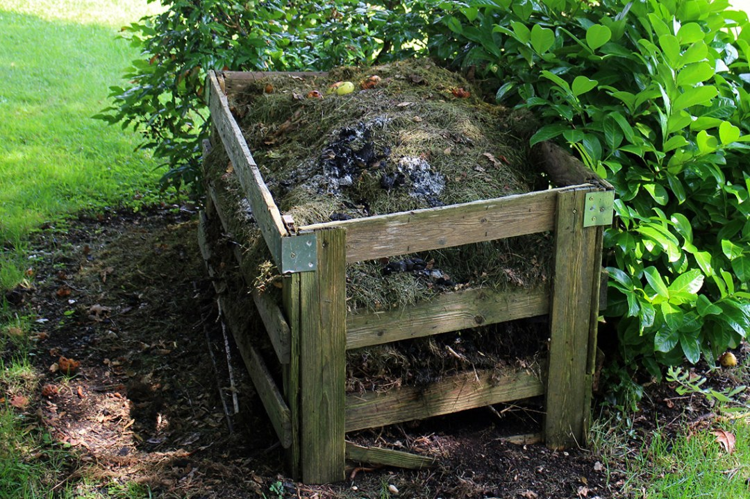 Outdoor compost pile