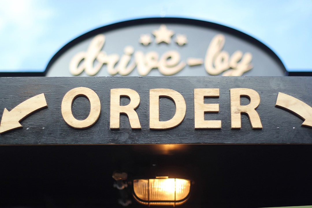 Food stall order sign