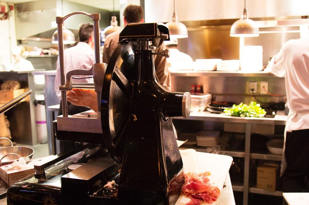 Slicer on Table in Kitchen
