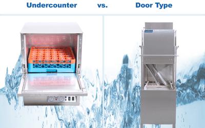 Undercounter vs. Door Type vs. Conveyor Dishwashers