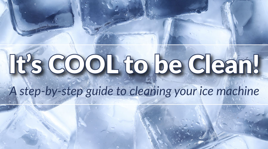 How to clean your ice machine