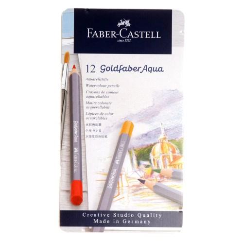 Lápices acuarelables Faber Castell 12