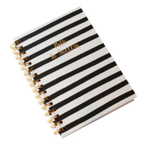 Cuaderno negro blanco path lo success