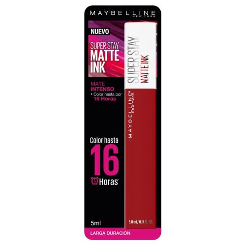 Labial Líquido Matte, Super Stay Matte Ink Spiced Edition Exhilarator, Maybelline NY
