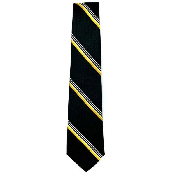 Corbata para Caballero Carlo Corinto con Diseño Elegante Raya Color Negro