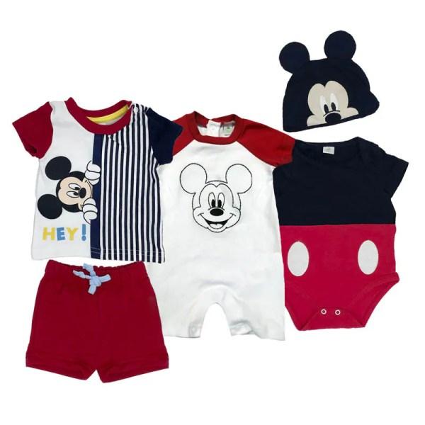 Paquete Disney Mickey de 2 pañaleros y 1 conjunto estampado