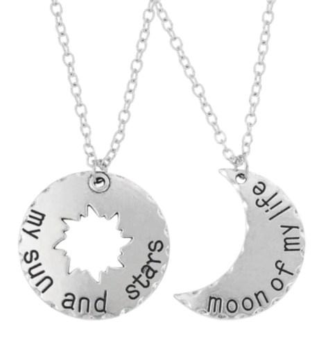 Set 2 Collares Mi Sol y Las Estrellas, la Luna de mi Vida Game Of Thrones Khal y Khaleesi Pareja Duo Novios San Valentin