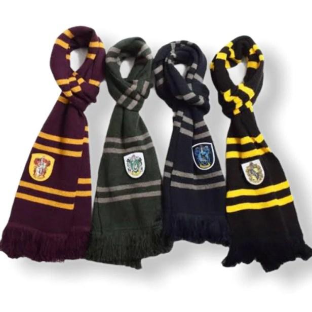 Harry Potter Bufanda Disfraz Gryffindor Slytherin Ravenclaw Hufflepuff Cosplay