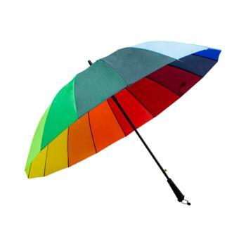 Paraguas Sombrilla Multicolor Arcoiris Semiautomática Tela Repelente
