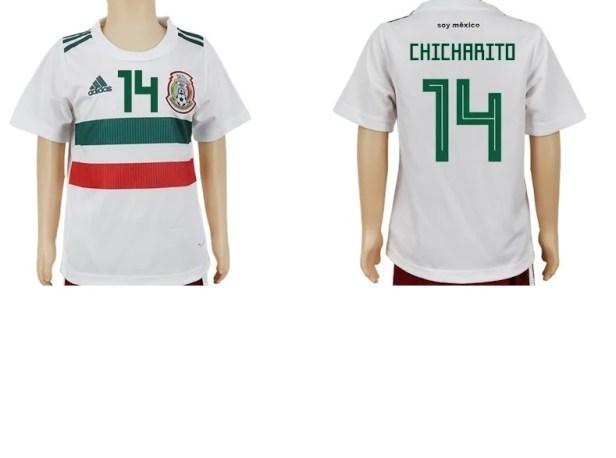 Jersey Mexico 2018 Blanco Chicharito 14 Niño 5 6 7 8 9 10 años