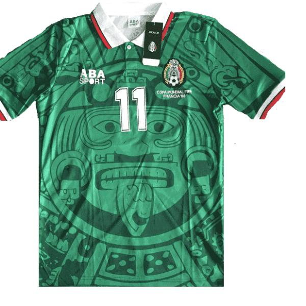 Jersey Mexico 1998 Local Verde Cuauhtemoc Talla S