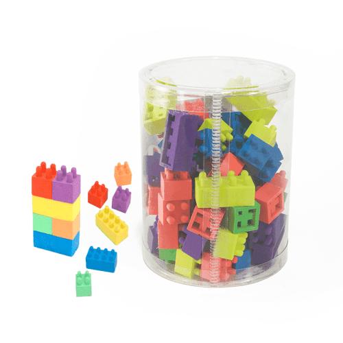 Caja de Goma De Borrar Con Divertida Forma De Lego