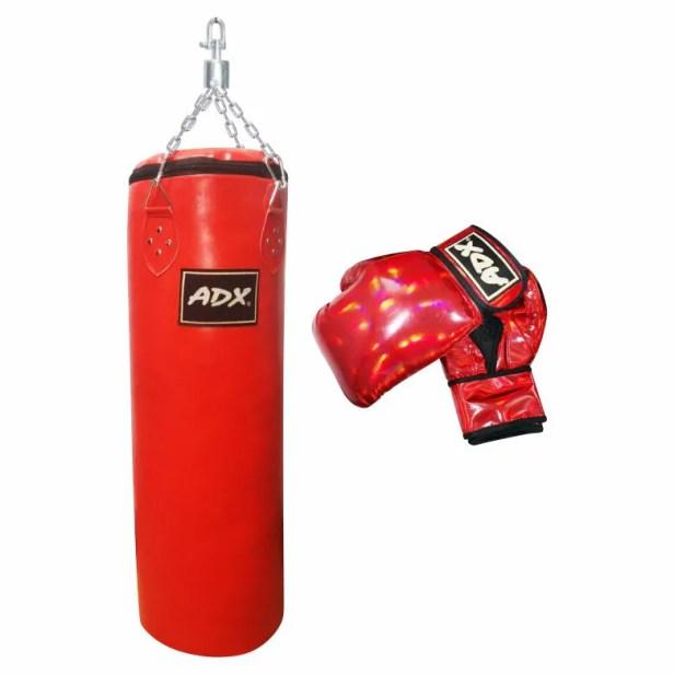 Kit de Autodefensa para Adulto Adx Costal de Entrenamiento Uso Rudo Saco de Boxeo + Guantes