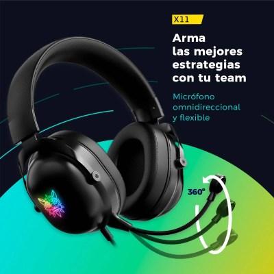 Audífonos Gamer BINDEN X11 Sonido Estéreo Reducción d/Ruido