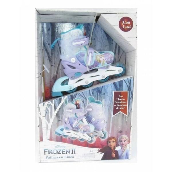 Patines en Linea Led Frozen Ajustables Unisex Infantiles 19a21