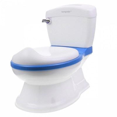 Bañito Baño Entrenador Asiento Tapa Recipiente y Sonido Azul