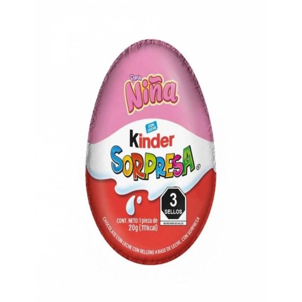 Pack de 12 Dulce Chocolate Kinder Sorpresa Niña 12/8PZ