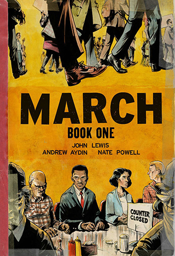 The cover of March, by John Lewis and Andrew Aydin