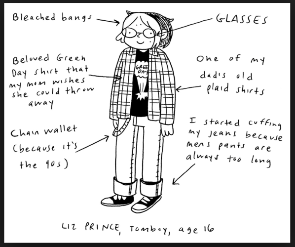A look inside Tomboy: A Graphic Memoir by Liz Prince.