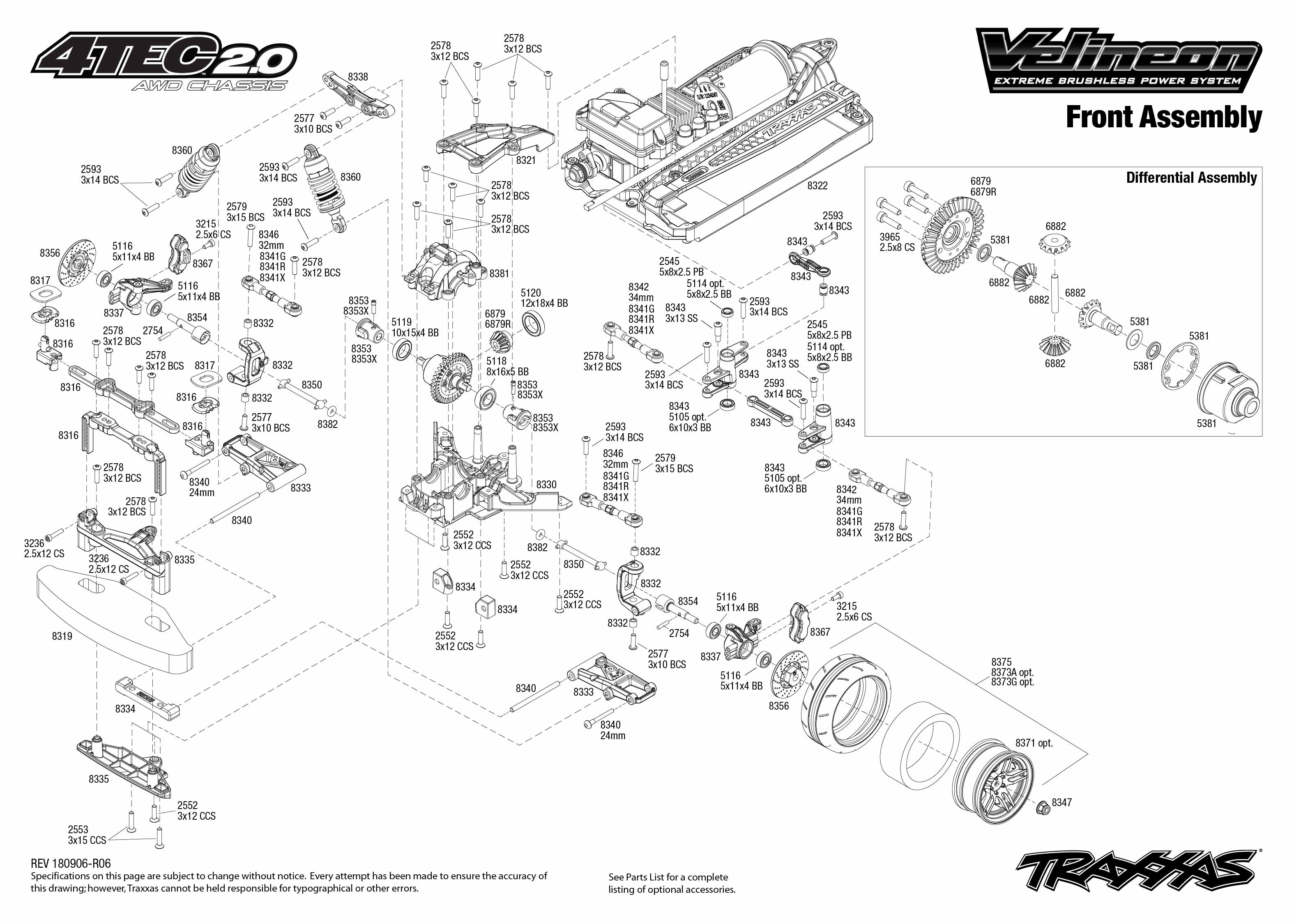 Traxxas 4 Tec 2 0 Vxl 1 10 Scale Awd Chassis With