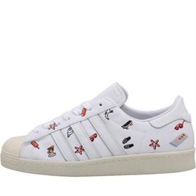 adidas Originals Womens Superstar 80s Trainers Footwear White/Footwear White/Off White
