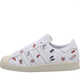 adidas Originals Womens Superstar 80s Trainers Footwear White/Footwear White/Off White