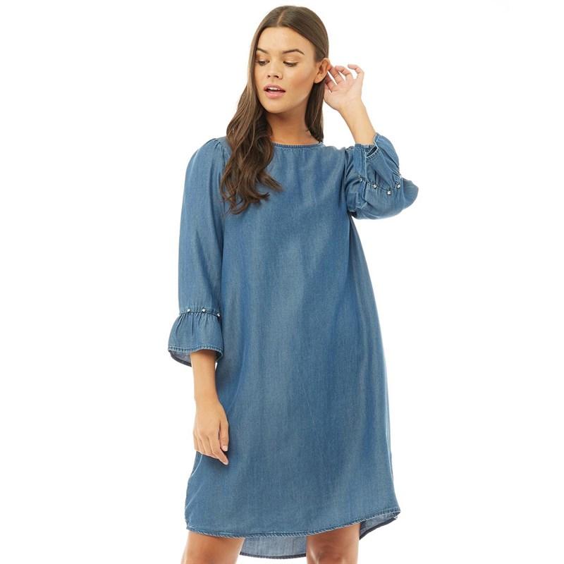 Denim And Rhinestone Dresses